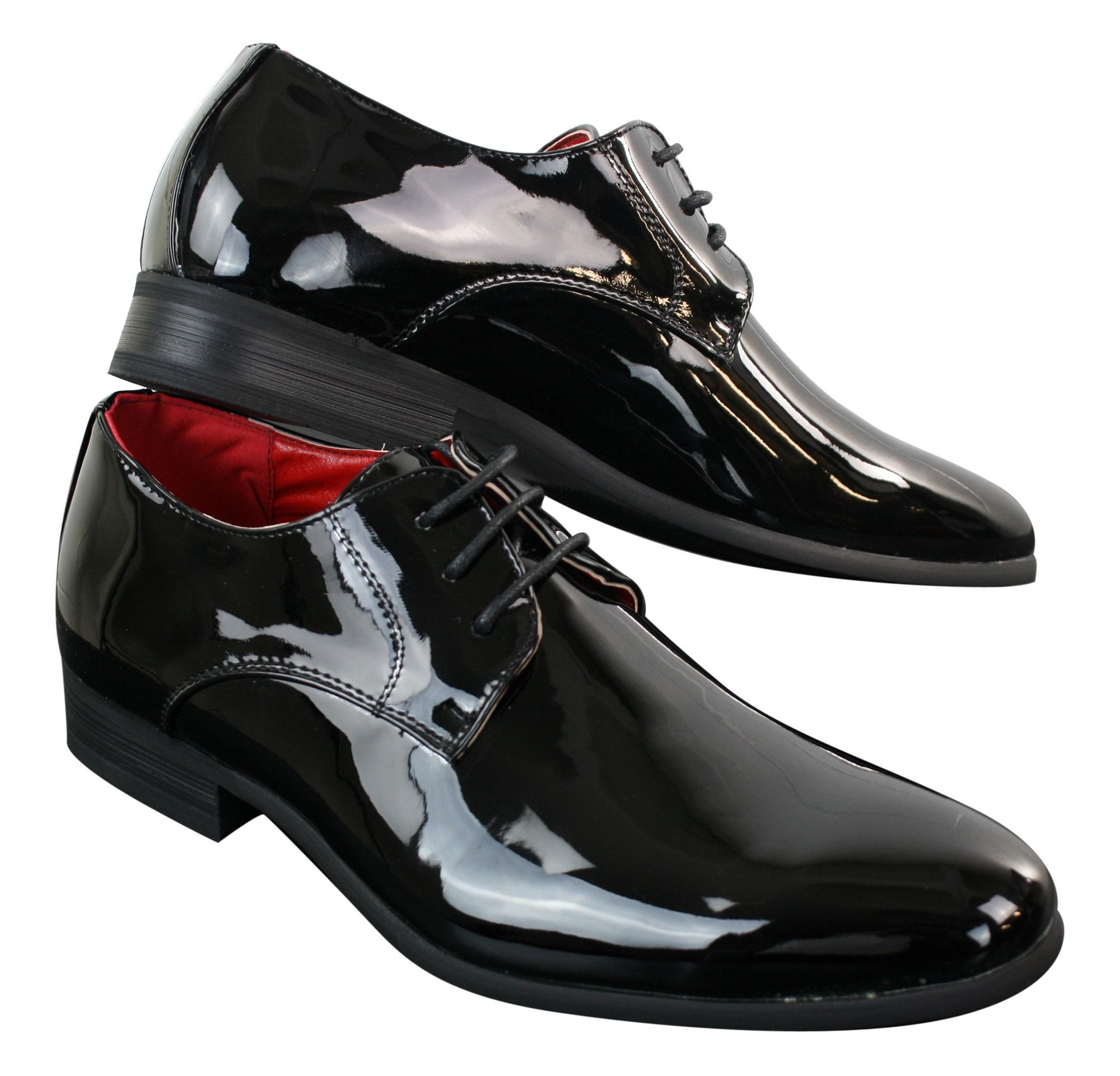 Mens Shiny Patent Formal Shoes Happy Gentleman