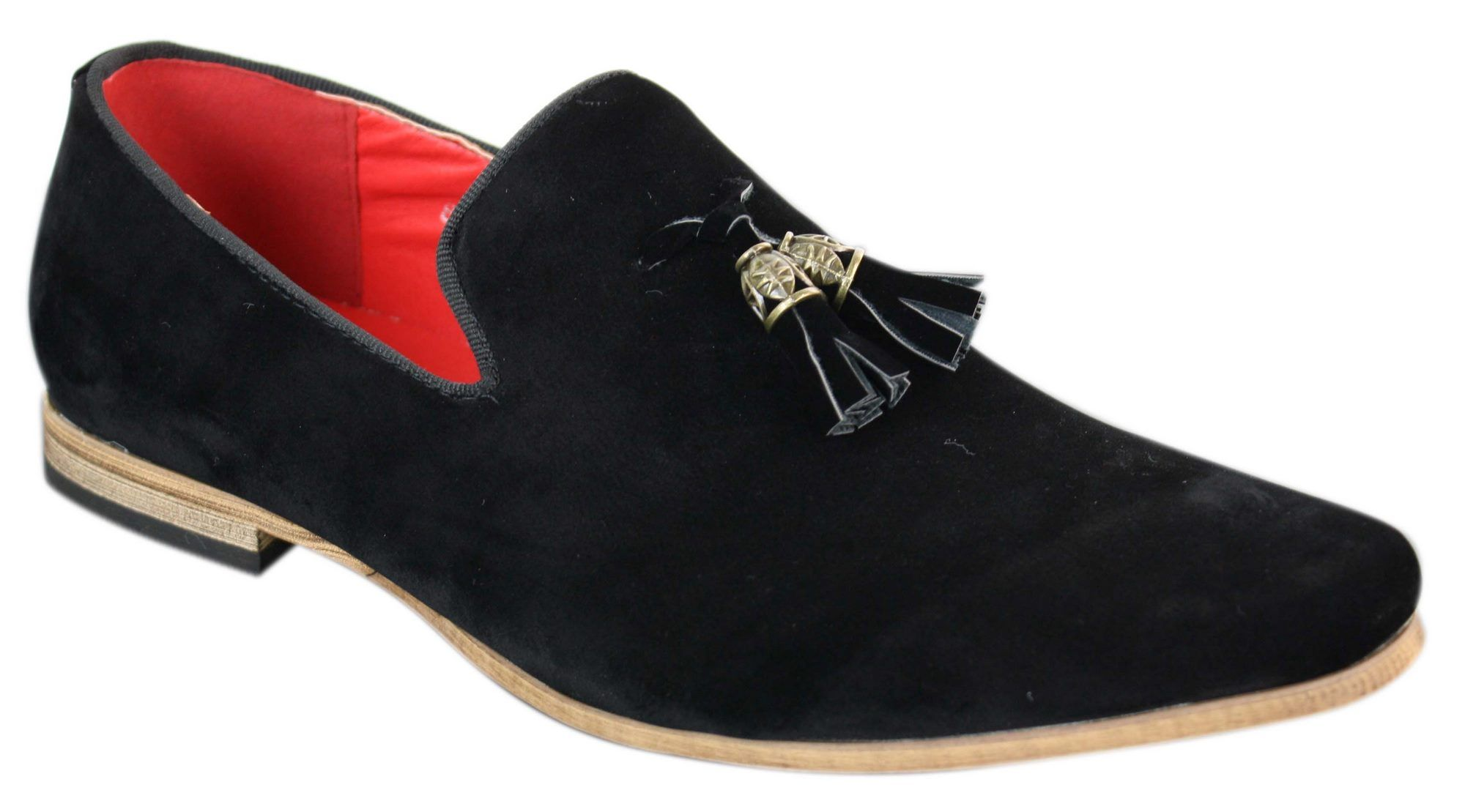 Mens Suede Leather PU Slip On Driving