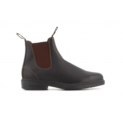 Blundstone 062 Stout Brown Leather Chiesel Toe Chelsea Boot