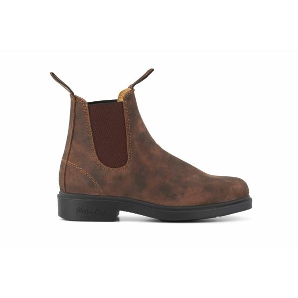 Blundstone 1306 Rustic Brown Chisel Toe Australian Chelsea Boots