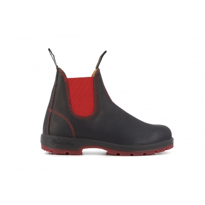 Blundstone 1316 Black Red Leather Chelsea Boots