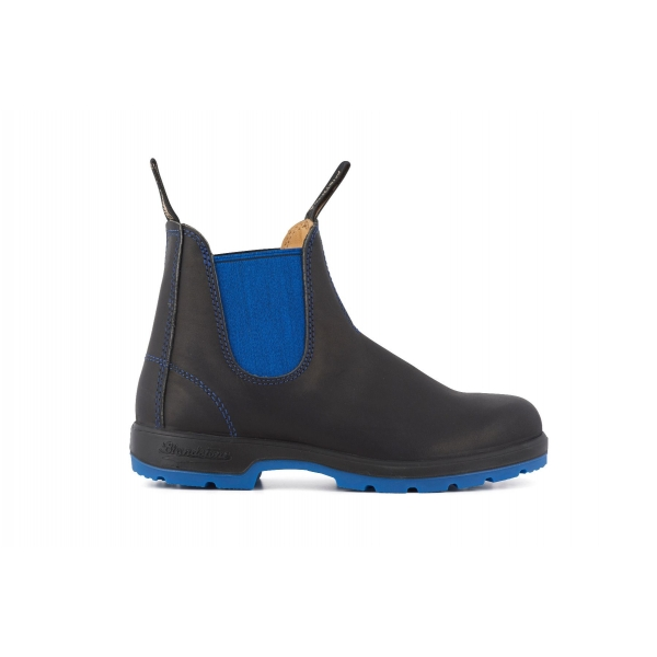 Blundstone 1403 Heritage Black Blue Leather Chelsea Boots