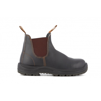 Blundstone 192 Brown Leather Steel Toe Chelsea Boot