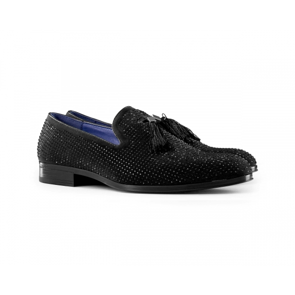 Mens Diamond Dancing Shoes with Tassels