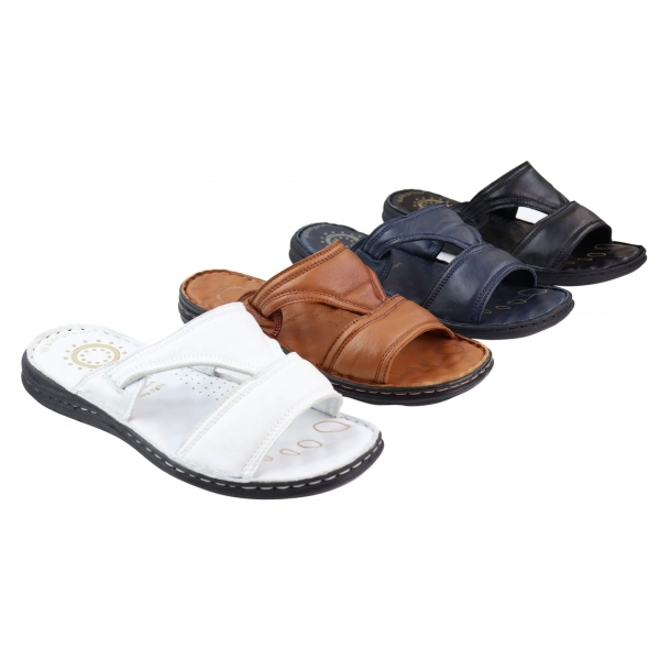 Mens Nappa Leather Slip On Sandals