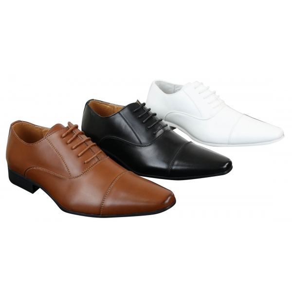 Mens Laced Formal Shoes Bworn Black White