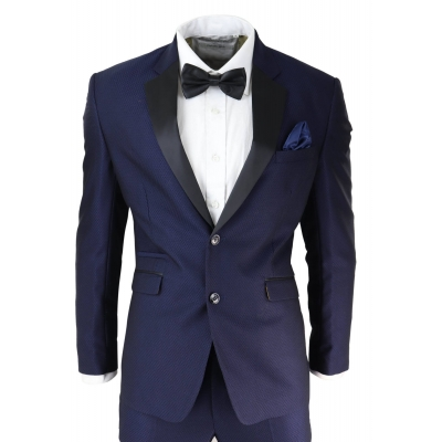 Mens Blue Tuxedo Dinner Suit