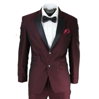 Mens Wine Tuxedo Dinner Suit