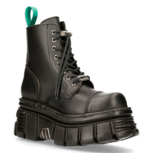 New Rock boots made from black leather model M-NEWMILI083-VS2