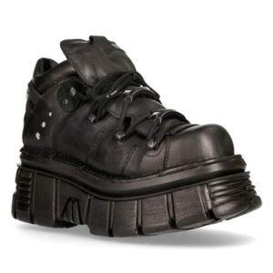 New Rock boots made from black real leather model 106N-S52