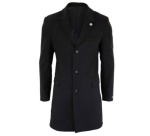 Men's Classic Wool Black Peaky Blinders Overcoat