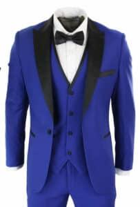 3 Piece Royal Blue Men's Tuxedo Suit