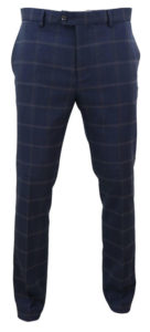 Blue Connall Cavani Tweed Mens Formal Trousers