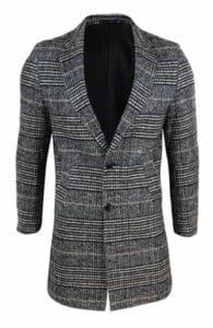 Tweed Check Crombie Overcoat for Men - Happy Gentleman